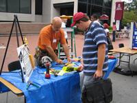 Volunteers gathered to help community last Wednesday.