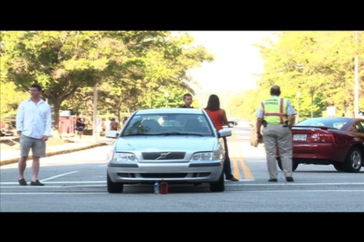 Accidents between inattentive pedestrians and vehicles getting to be more common on USC campus.