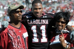 Kenny McKinley with his Parents in 2008.