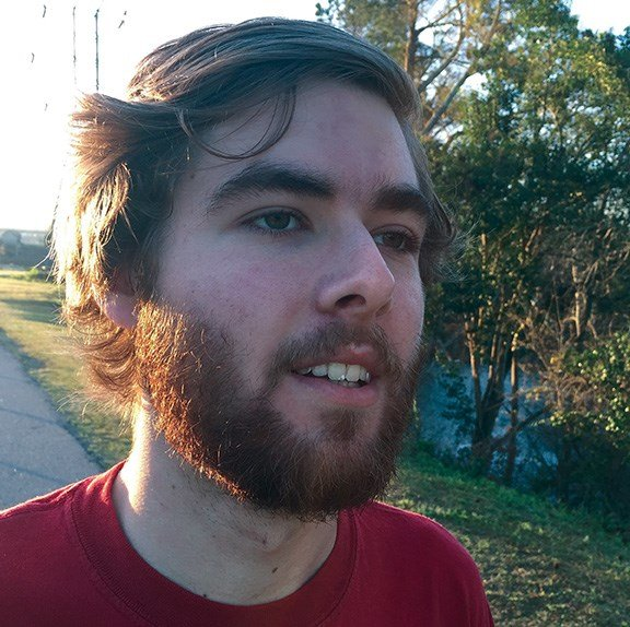 Grant Gibbs, a 20-year-old at the University of South Carolina, trains for his half marathon at 7 a.m.