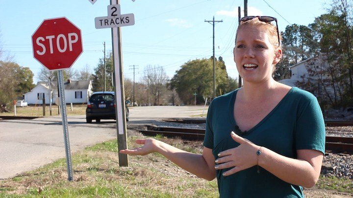 Natalie Lytle was crossing these tracks a few streets over from Assembly Street when she had her encounter. These tracks are not included in the current study.