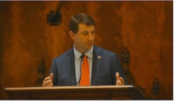 Clemson Footabll Coach Dabo Swinney adressed state lawmakers