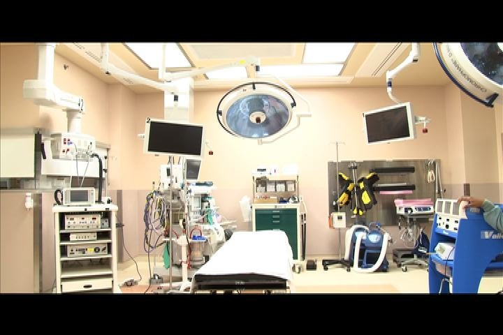 Newly remodeled operating rooms are bigger and more advanced.