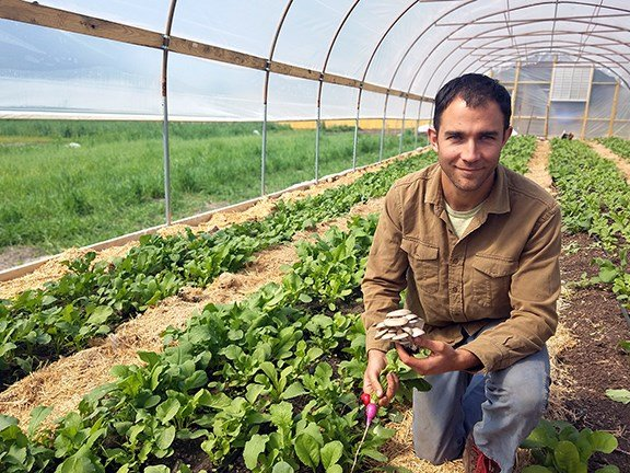 Eric McClam, City Roots Farm manager and co-owner, waited to plant his spring crops despite a warmer winter - a decision which may prove to be wise in light of this weekend's frost forecast.