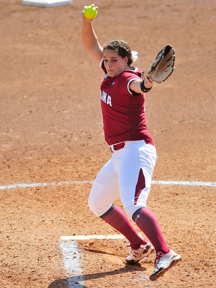 Courtesy South Carolina Media Relations | Nickie Blue delivers a pitch during a game. The senior pitcher said her goal in her final season at South Carolina is to take her team to the next level, which could include hosting a regional.