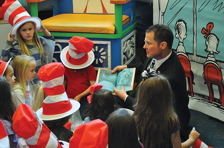 """Every year, EdVenture holds a celebration for Dr. Seuss's birthday. This year, Lt. Gov. Kevin Bryant read the classic Green Eggs & Ham. Every time the book said """"Sam-I-Am,"""" Bryant asked the kids to say it with him."""
