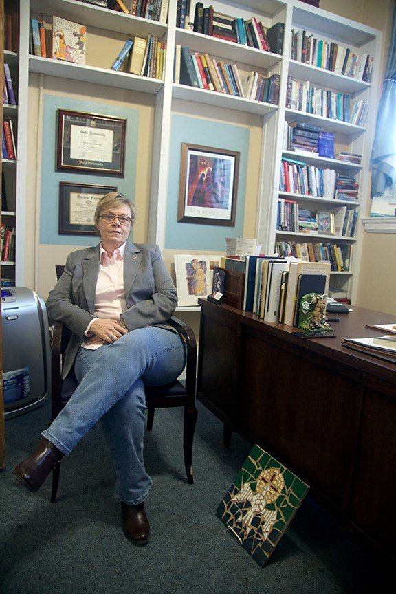 Rev. Ginger Barfield of Lutheran Theological Southern Seminary in Columbia, explains the struggle of refugees coming into the United States.