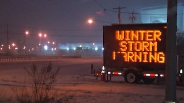 A winter storm caused travel problems both on the groud and in the air for much of the East Coast.