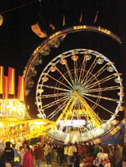 Nearly half a million people showed up for the fair as pleasant weather prevailed.