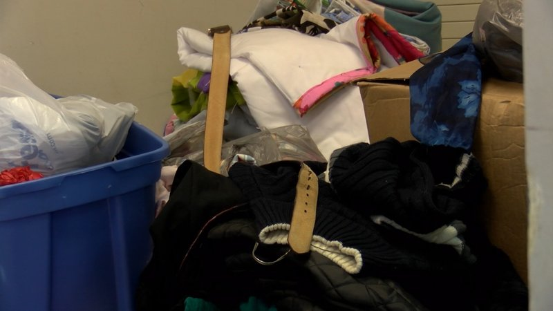 Donations of winter clothes are sent to Oliver Gospel Mission to assist the homeless.