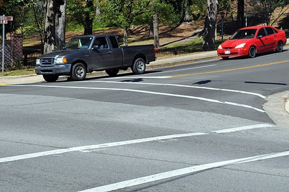 The $600 million gas tax bill will go to improving the roads of S.C. such as this recently repaired road, once littered with pot holes, at the corner of Blossoom and Pickens in Columbia.