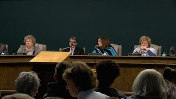 This is the second meeting that the district members have not talked publicly on Heise.