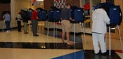 People casted their votes at the ten booths at Oak Pointe Elementary School in Irmo.