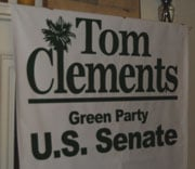 Tom Clements' Senate campaign headquarters was in Francis Close's Columbia home.