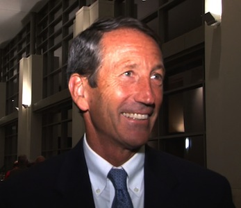 Governor Mark Sanford was among the Haley supports at Tuesday night's celebration.