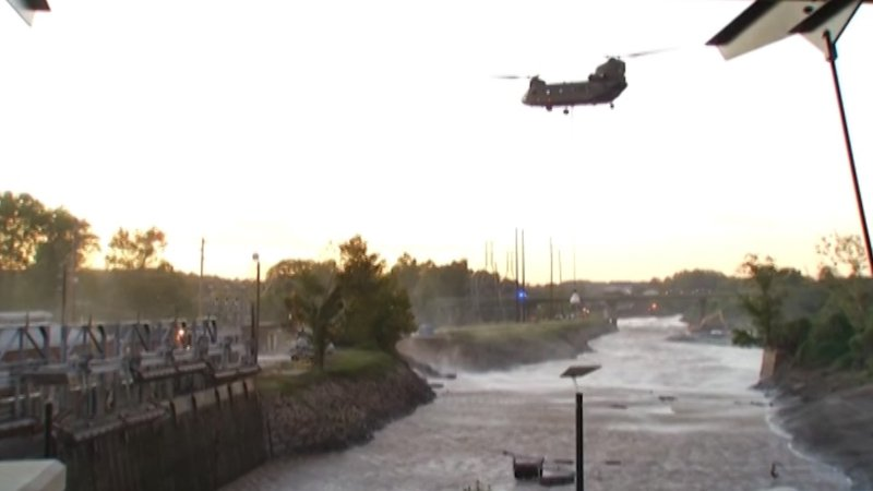 The scene back in October 2015 when the Columbia Canal breached.