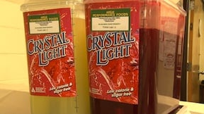 Crystal Light is marked with the green high performance food card as it is low in calories and sugar free.