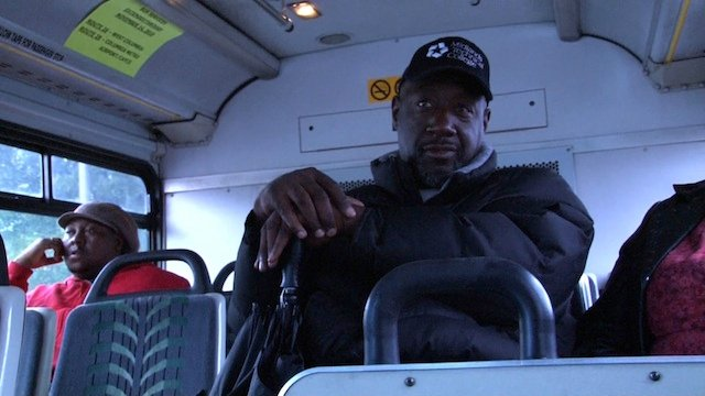 Jaffar Green uses the bus to get to school after experiencing car trouble.