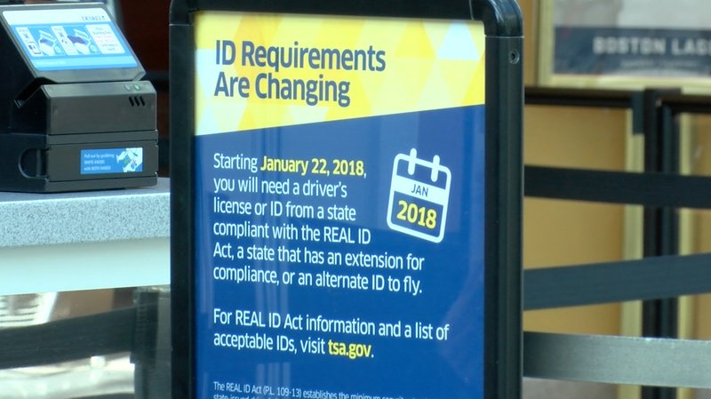 TSA sign outlining potential changes to travel.