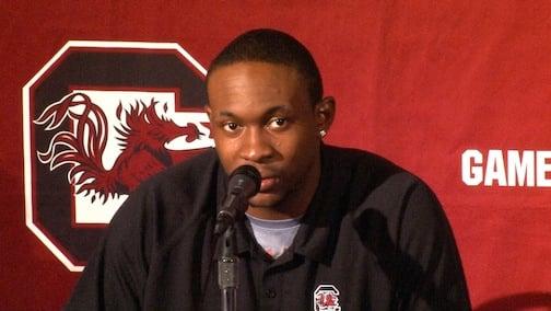 Sophomore Alshon Jeffery broke 1,000 yards in the game against Arkansas.