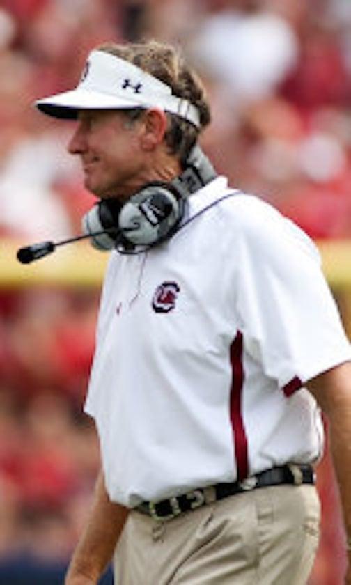 Head coach Steve Spurrier fell to 5-4 all-time against Arkansas, including 2-4 as USC's head coach