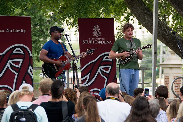 The original venue for the Darius Rucker concert in April was going to be the historic Horseshoe, just like the 2015 performance for the USC journalism school opening, but the concert was moved to the Colonial Life Arena. Photo courtesy Lewis Zeigler.