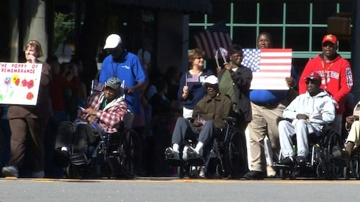 War Veterans showing support for their country