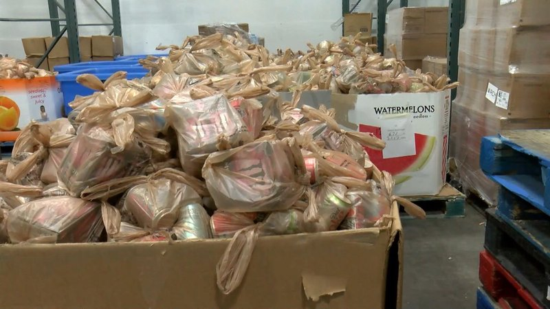 Harvest Hope is experiencing a shortage in food donations that is lower than what they usually experience.