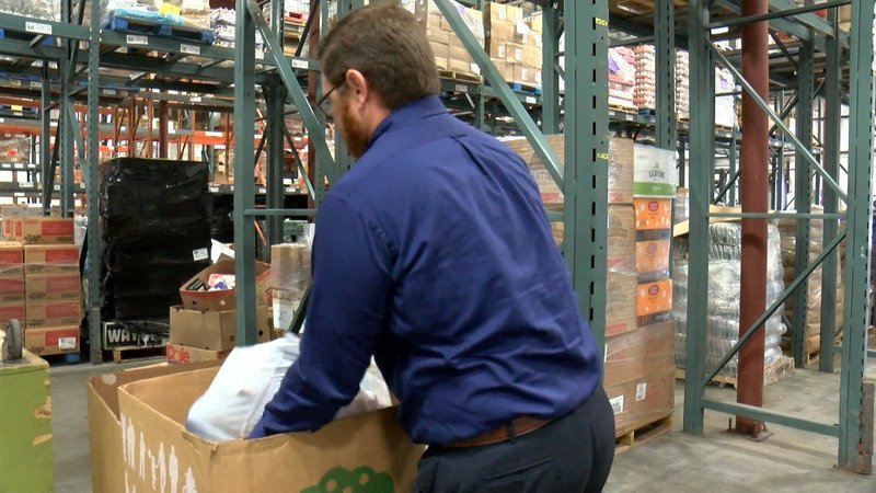 Harvest Hope Marketing Manager Jamie Peebles says the food shortage effects children on spring break from school who rely on free and reduced lunches.