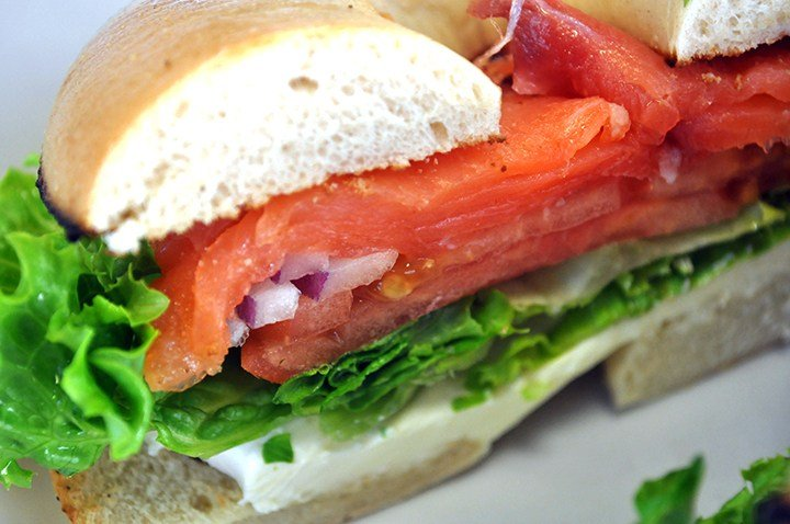 Hello Deli uses lox imported from Atlanta and bagels from Brookyln, N.Y. Owner Harvey Nathan says the New York water used to make the bagel dough is what makes them superior to bagels made in South Carolina.