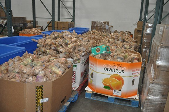 The Emergency Food Bank part of the Harvest Hope is full of canned goods. In this case though, it is looking a little empty.