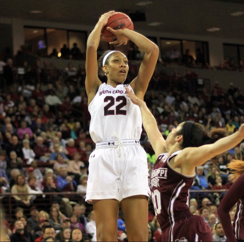 Junior A'ja Wilson scored 22 points and was named the Most Outstanding Player of the Final Four.