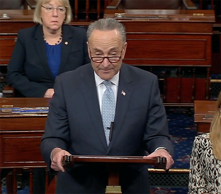 Senator Chuck Schumer blames Republicans for the deepened divide between the parties.