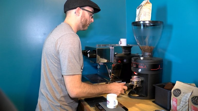 with new development, Greg Slattery wants his coffee bar to be different than chain coffee shops.