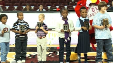 Some of the kids who received awards for their excellent reading.