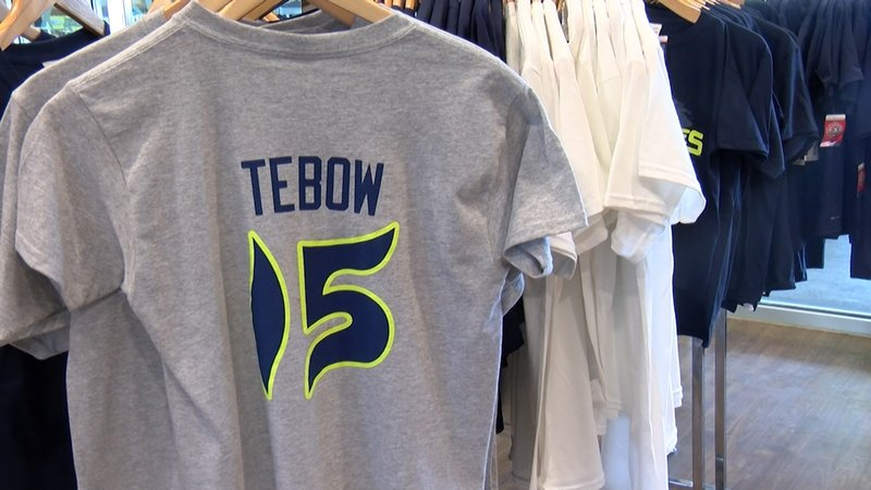 It has been hard for the Fireflies organization to keep Tebow merchandise in stock.