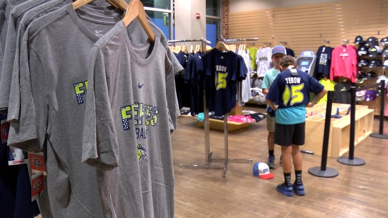 Tebow mania has descended on Columbia as fans flock to purchase Tebow merchandise.