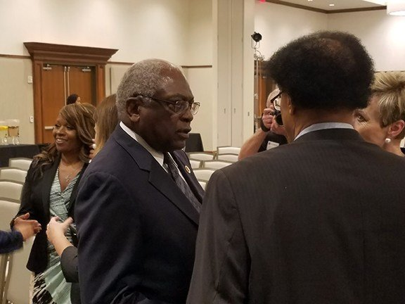 """We need to cure this health care problem,"" Congressman James E. Clyburn said. ""And to do this, we have to put aside our differences and prejudices."""