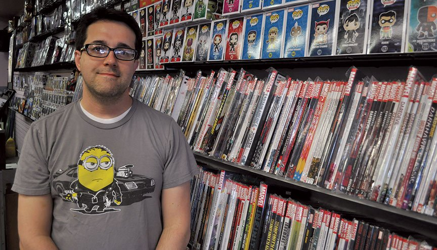Eric Woodard is the owner of Scratch N Spin and says he's seen superhero culture explode over the past decade, partly because of the success of Marvel and DC comic book movies.