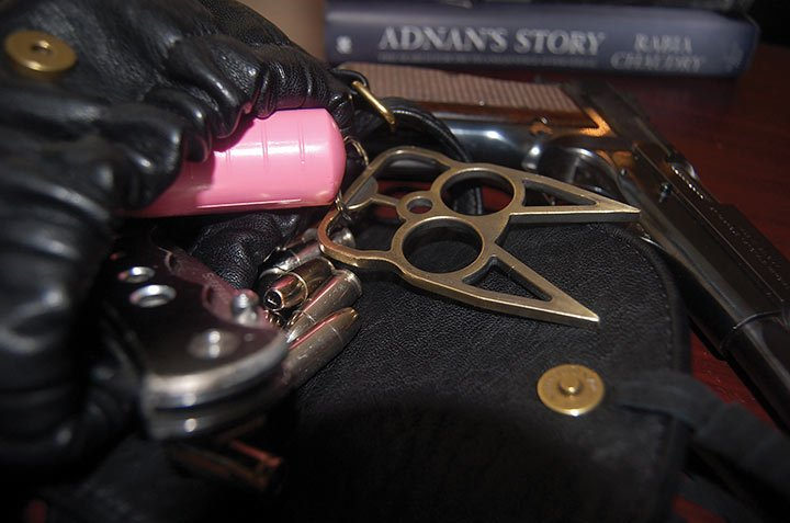 Many women read novels and true crime stories as a way to learn about crime as a way to protect themselves. Often they will carry guns, knives, pepper spray or other self-defense tools.