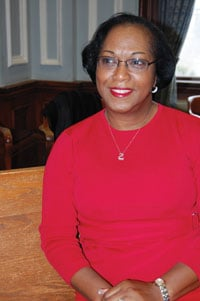 Ruth Ann Oree, 64, says she realized she was at risk for heart disease as she got older. She participates in a fitness program at Antioch Baptist Church in Eau Claire and wear a red dress every year during February, which is American Heart Month.