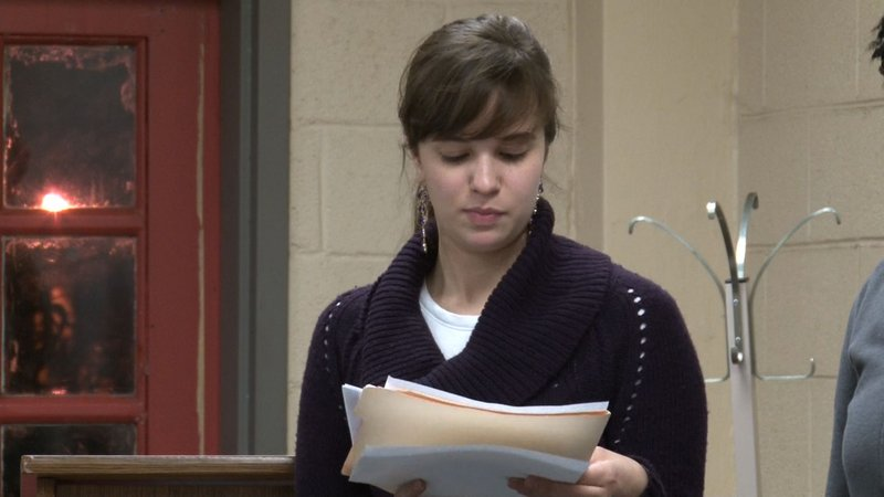 Presenters have been practicing reading the monologues to get ready for the weekend shows.