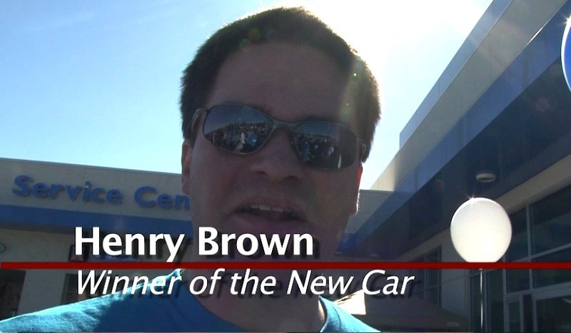 Henry Brown rode home in a new car.