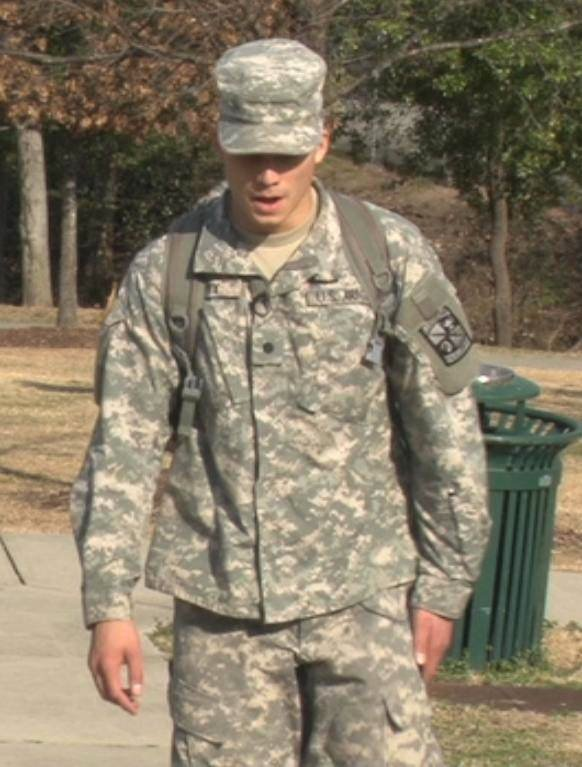 Doug Cotty says it is going to be a big help having his Army ROTC experience under his belt.