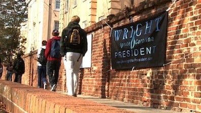 Most students barely noticed the campaign signs that were on Greene St. for over a month.