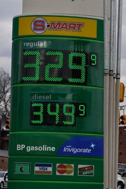 Gas prices in South Carolina rose 33 cents in February.