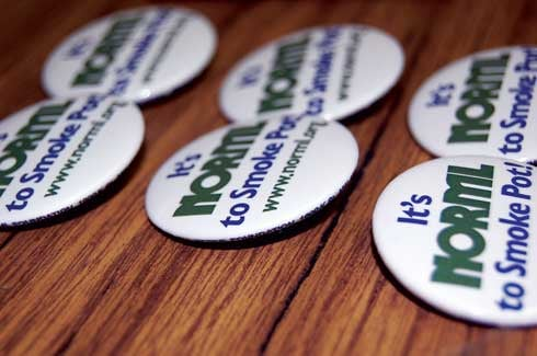 Norml's Columbia chapter raises money through the sale of merchandise like buttons, canvas bags and T-shirts. Prices range from $1 for a button to $15 for a T-shirt.
