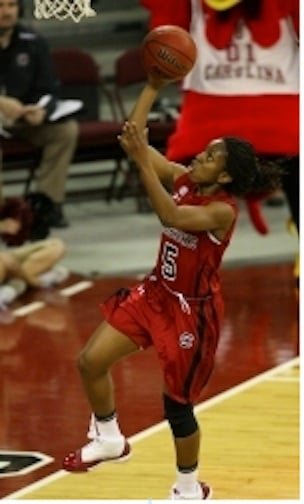 Markeshia Grant scored 13 points and added nine rebounds to help the Gamecocks to victory.