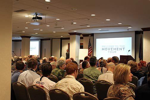 """Hundreds of people gathered at Lexington's town hall for Gov. Nikki Haley's first in a series of town hall meetings, dubbed """"The Movement."""""""