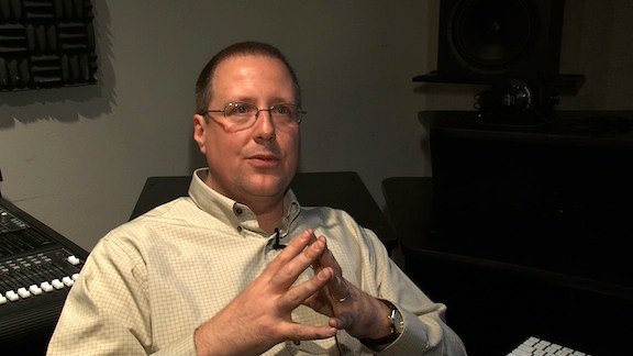 Professor Bain uses a computer program to mathematically create music.